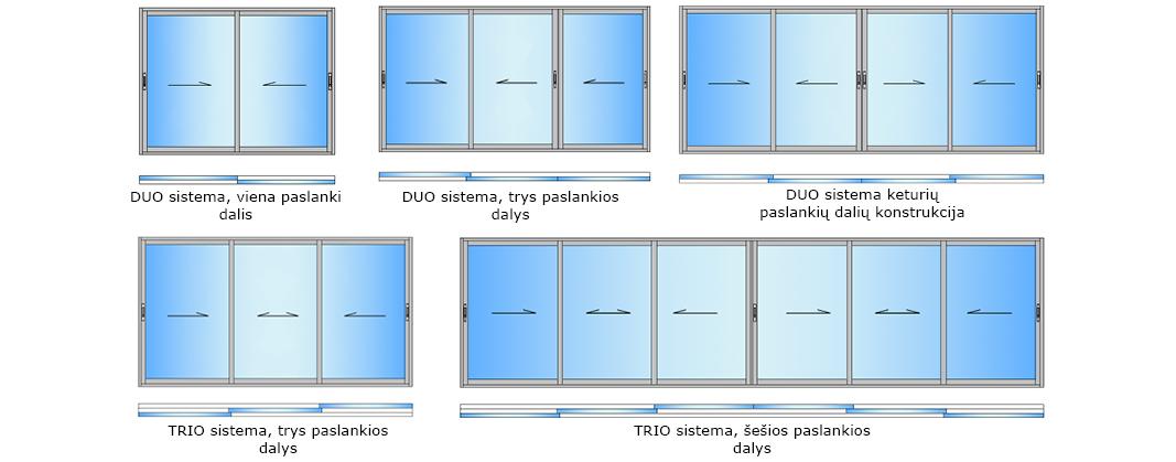 Balkono stiklinimas aliuminiu 2